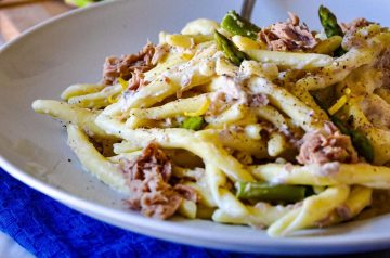 Recipe: Easy pasta with asparagus & tuna fish