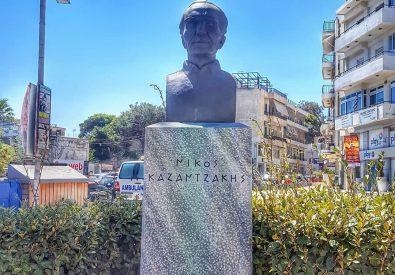 Nikos Kazantzakis Statue