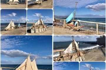 Handmade boats in Heraklion