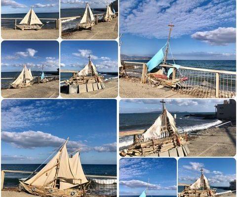 Handmade boats in Heraklion