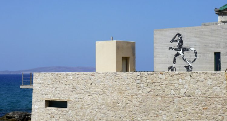 The colossus [Mural at the Natural History Museum of Crete]